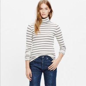 Madewell slim turtleneck stripe long sleeve top